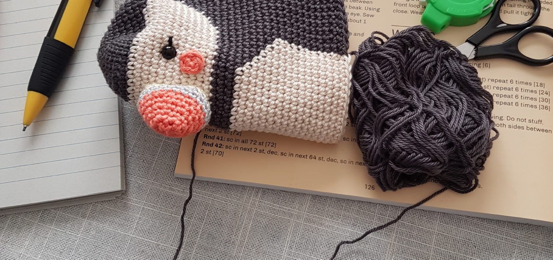 Pica Paus Crochet Puffin Modified Version La Fabrique Des Songes