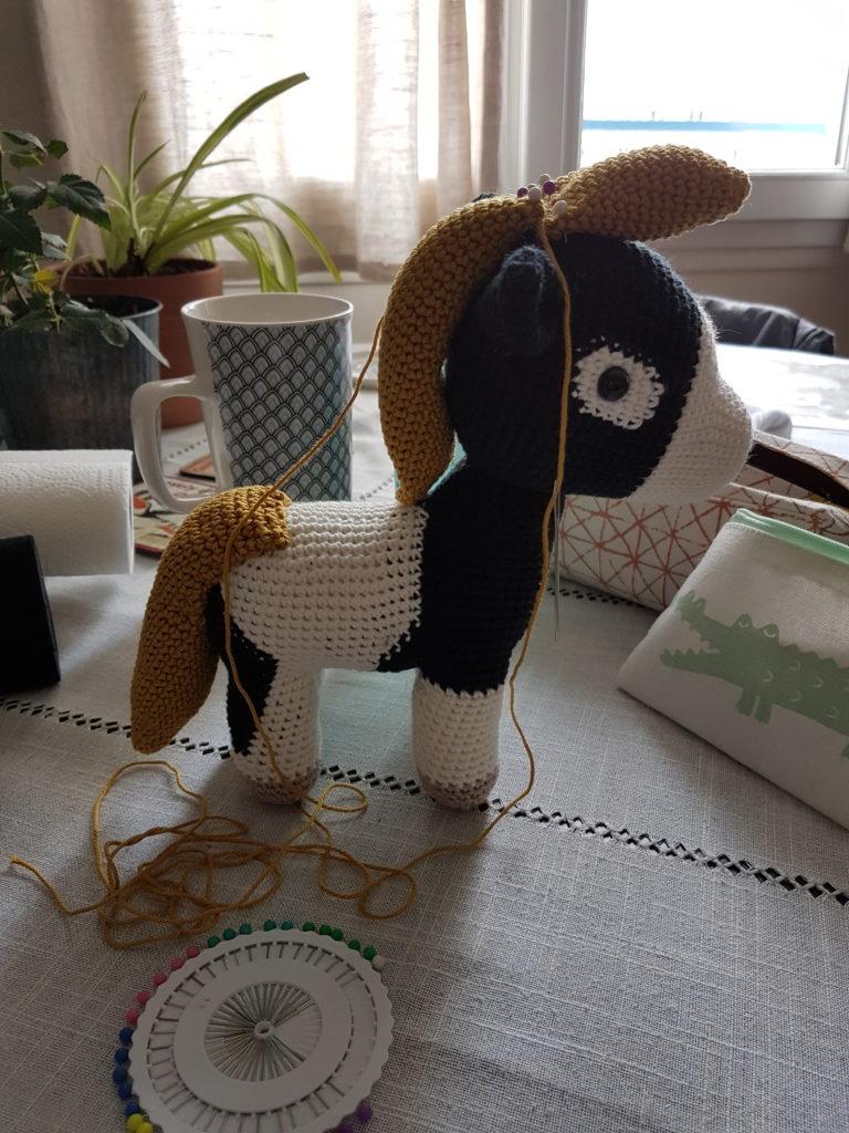 Assemblage final Petit Tonnerre au crochet