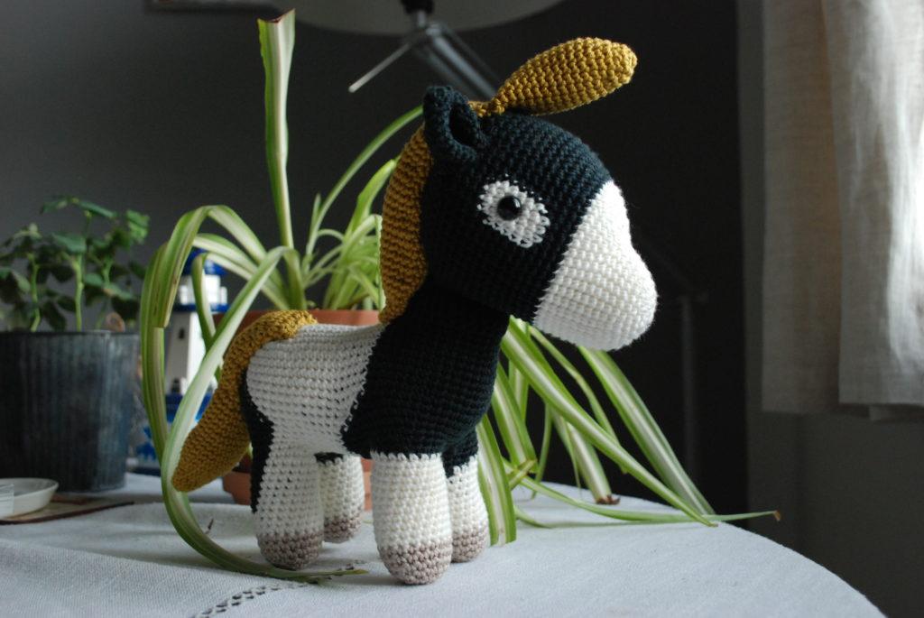 Amigurumi crocheted horse