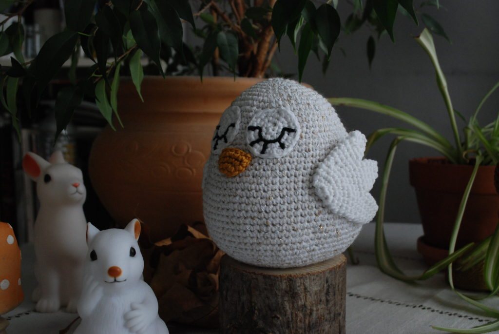 Wings crocheted owl