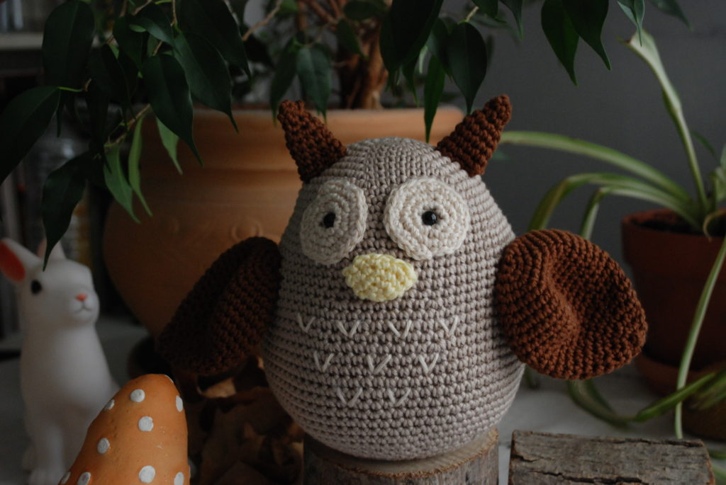 Ears crochet owl