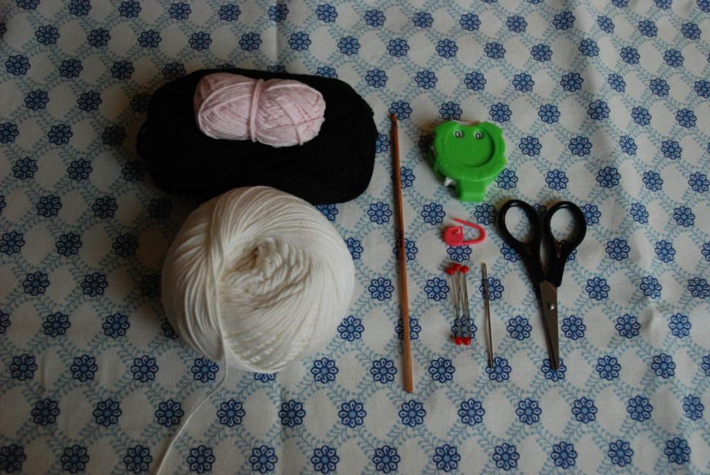 Free crochet pattern : onigiri materials