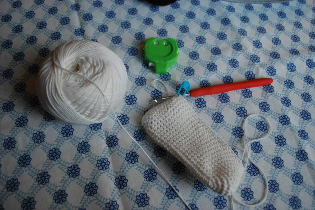 Crocheted rice ball pattern