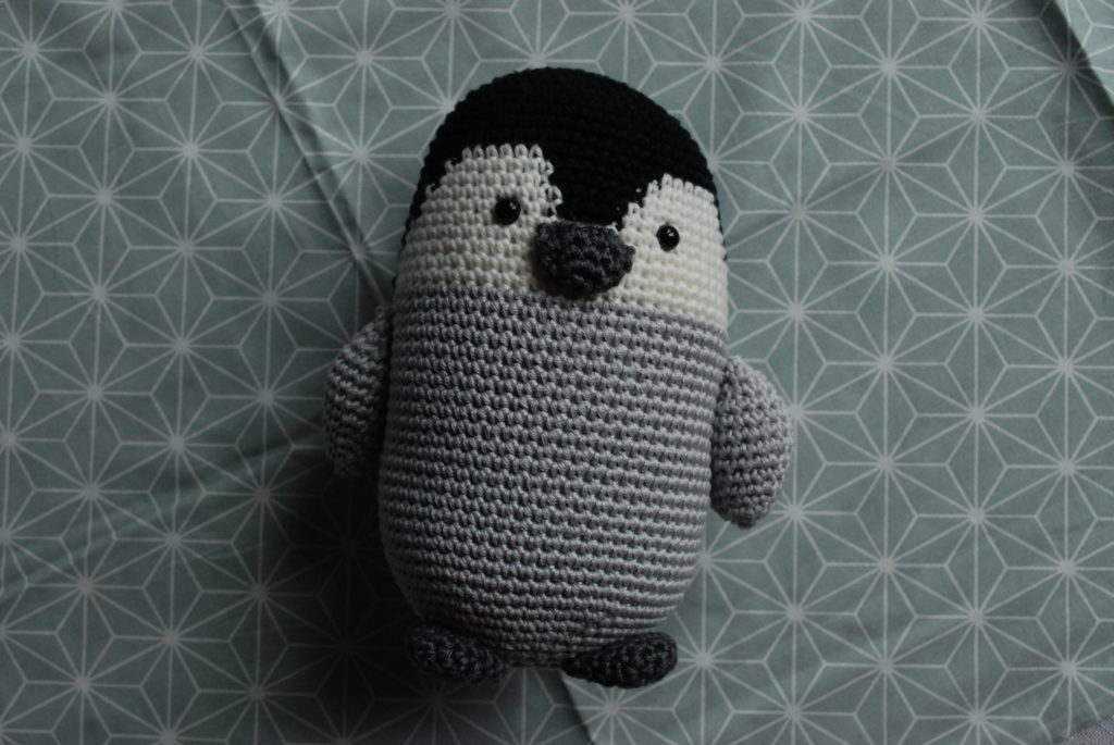 Crocheted baby penguin