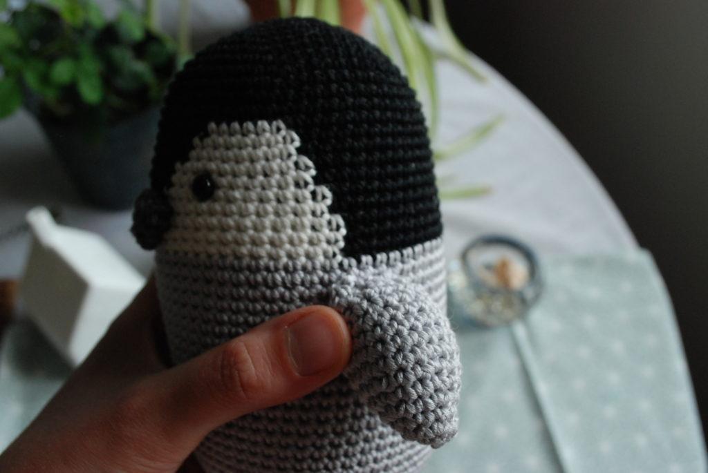 Wings amigurumi baby penguin