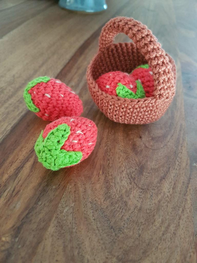 Fraise crochet amigurumi