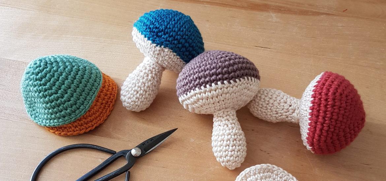 Amigurumi mushrooms