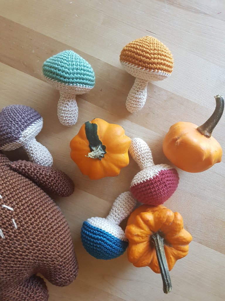 Amigurumi crochet champignons