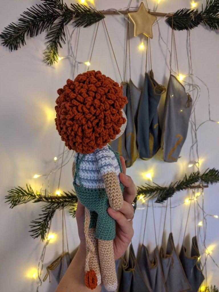 Crochet pattern amigurumi overalls